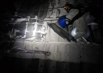 Petite et grosse réparation dans un four fibro ceramique chez Arcelormittal